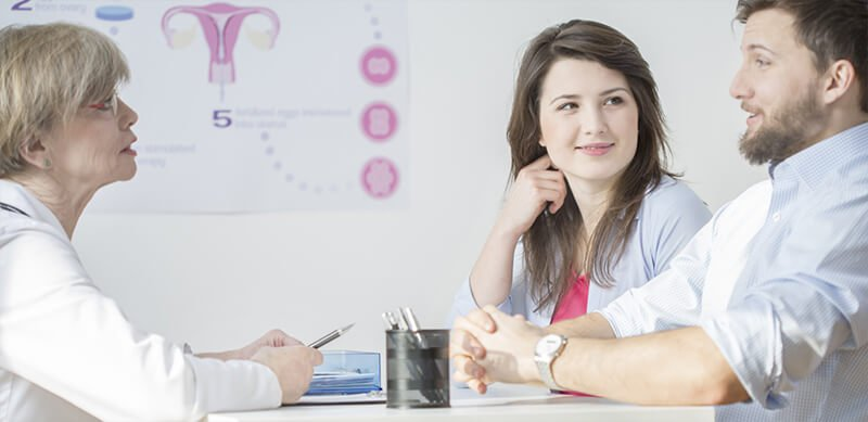 Talking to fertility specialist